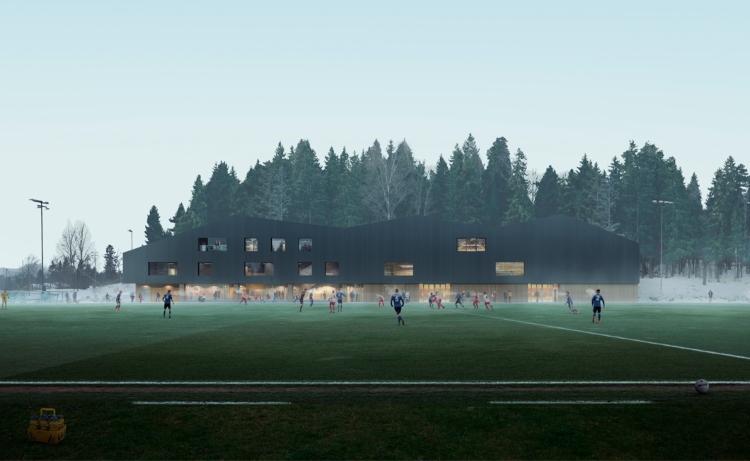 Ullern flerbrukshall fotballbane